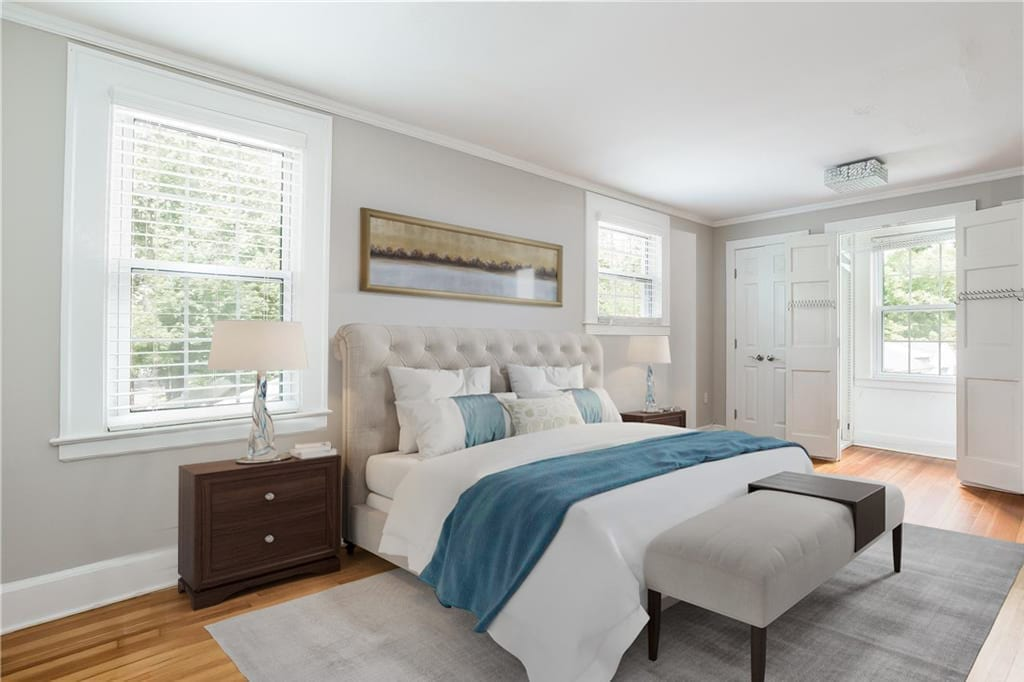 After example virtually staged bedroom by Lotus 3D Staging